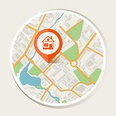 mapa města pozadí abstraktní s značka domácí