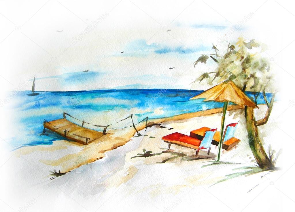 Paesaggio marino foto stock elena bessonova 23686507 for Disegno paesaggio marino