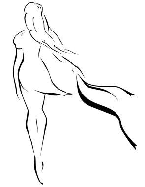 Girl' silhouette