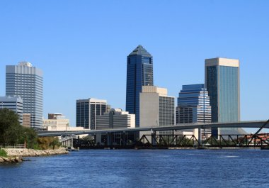Jacksonville, Florida skyline from across the St Johns River