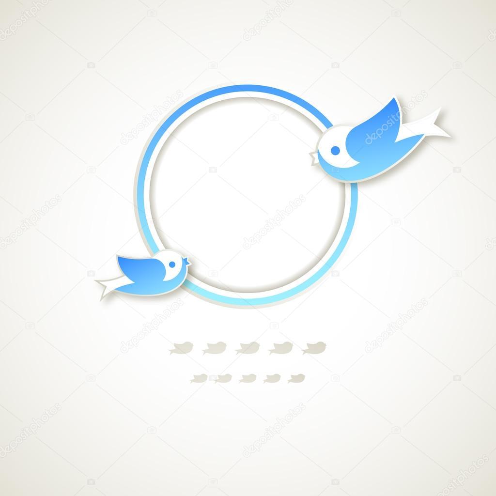 Vintage Runde Rahmen mit fliegenden Vögel — Stockvektor © babyflower ...