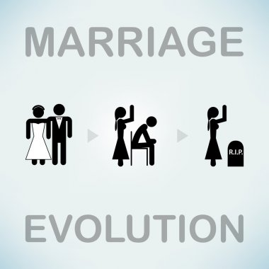 Funny marriage symbol