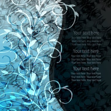 Background with blue sprigs rassteny