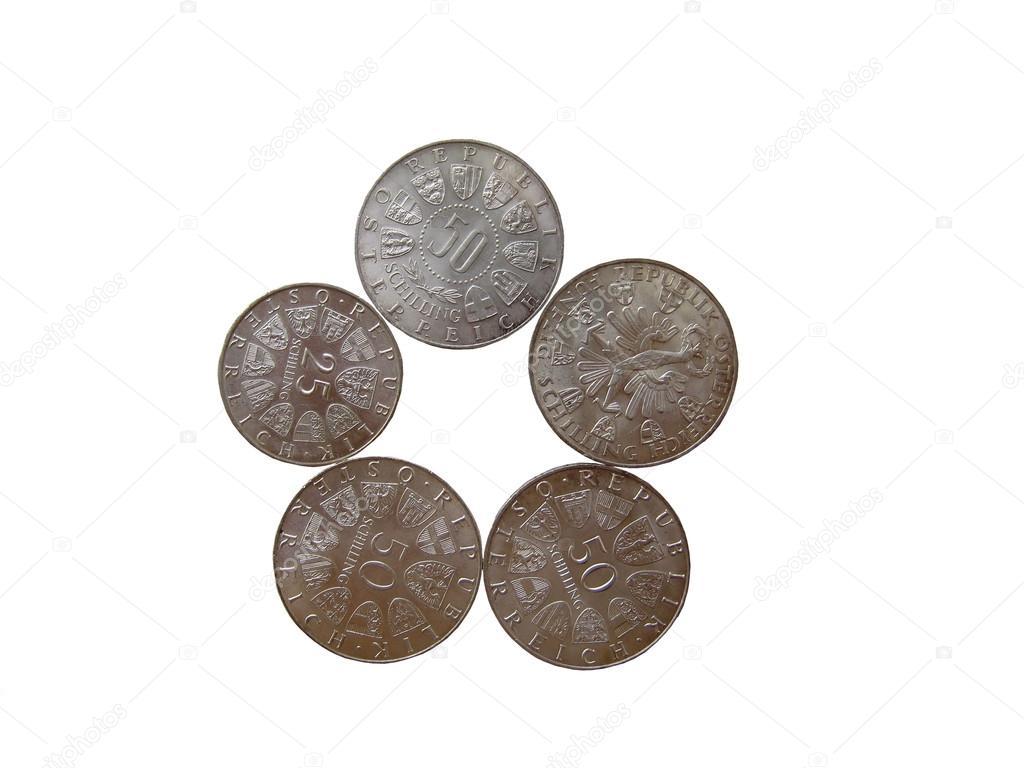zilveren munten collectie