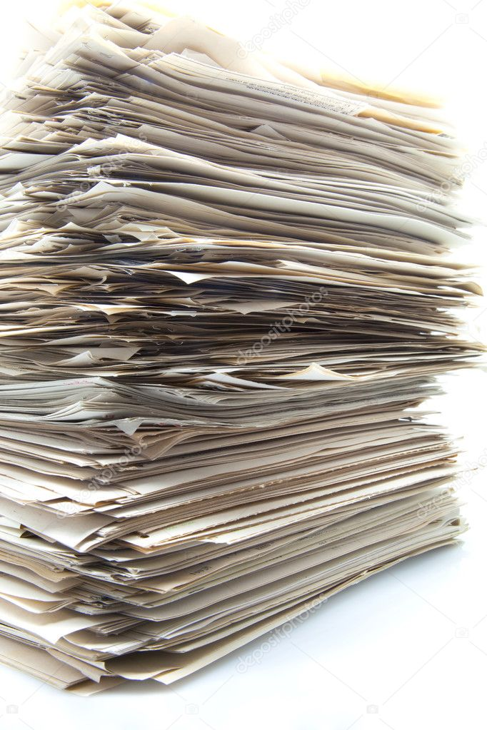 Piled up documents
