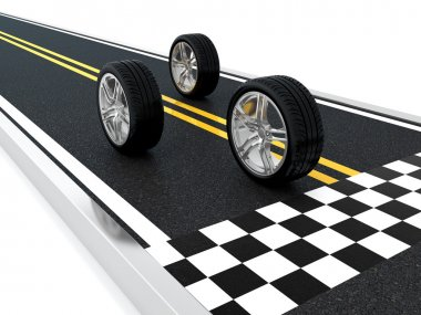 Car wheel race