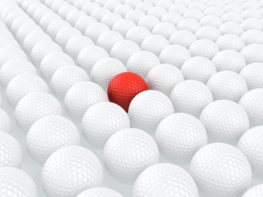 Unique golf ball