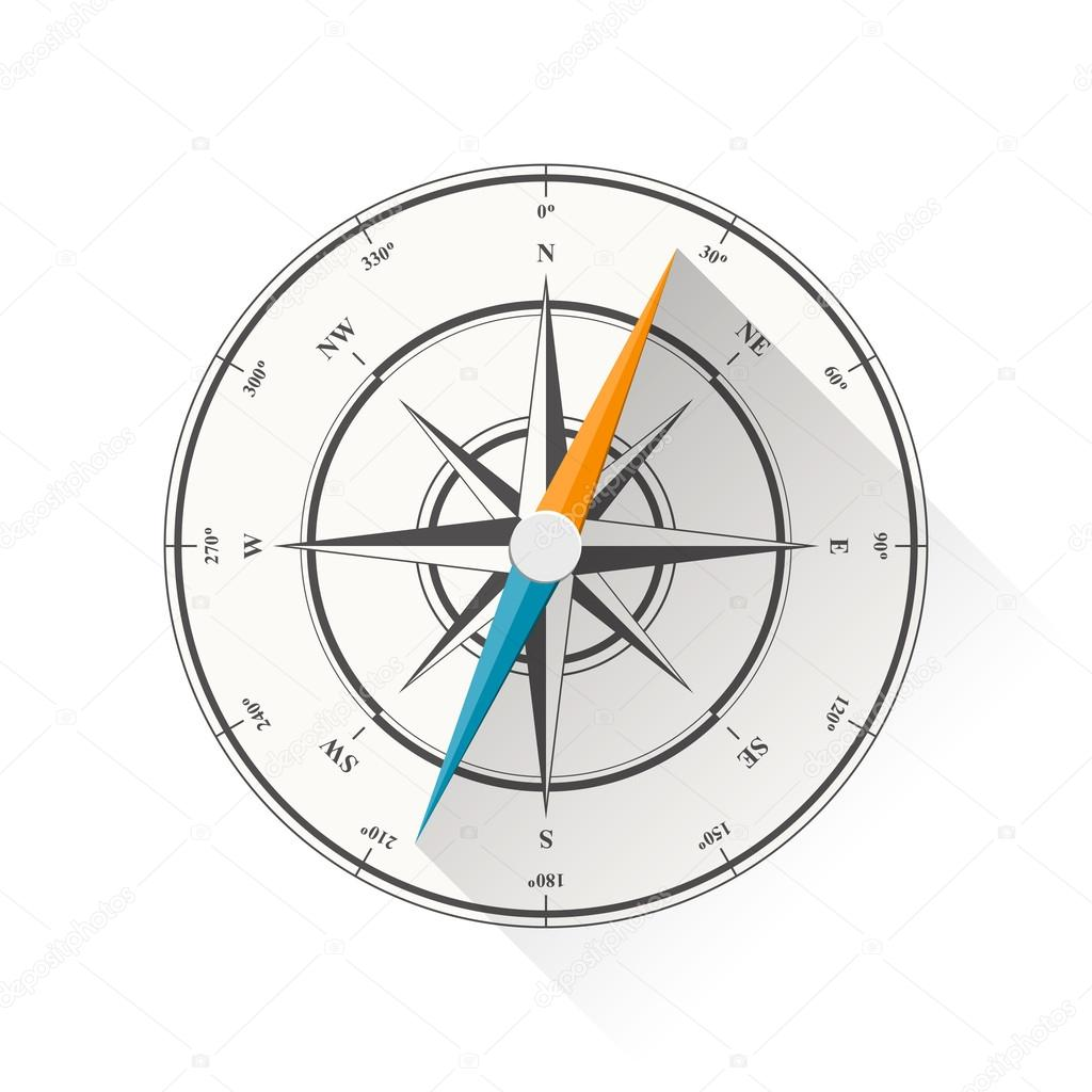 Compass stock vector vasabii777 34440879 vector illustration of compass diagram isolated on white background vector by vasabii777 pooptronica