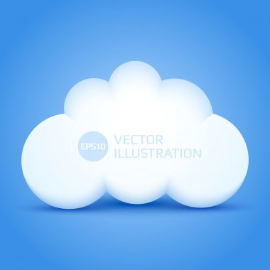 White cloud vector illustration