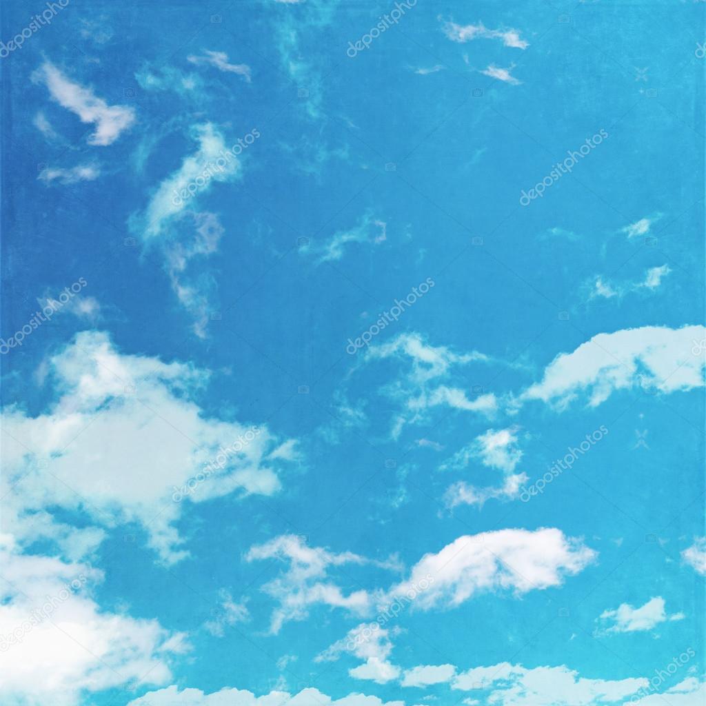 Grunge image of blue sky