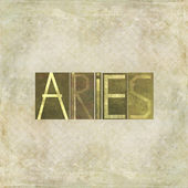 Design element depicting the word Aries