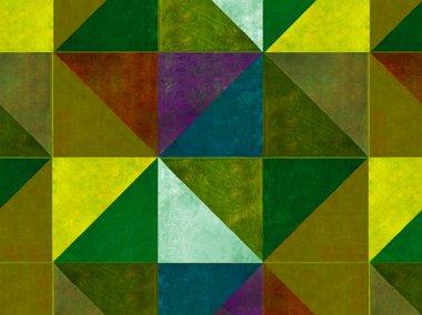 Earthy geometric background