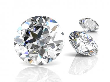 diamond jewel on white background