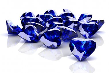 blue sapphire (high resolution 3D image)
