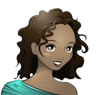 Dark-skinned girl