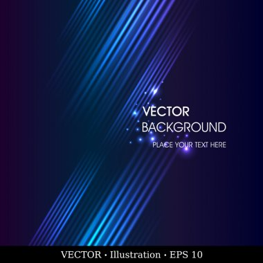 Abstract vector background. Creative dynamic element, shiny space illustration. Fully editable.