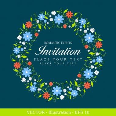 Invitation vintage card.