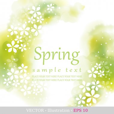 Spring. Four seasons calendar days of the year cover of the title page. Colorful hand drawn design from watercolor stains. Vector illustration. stock vector