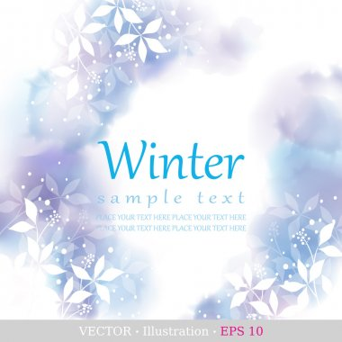 Winter. Four seasons calendar days of the year cover of the title page. Colorful hand drawn design from watercolor stains. Vector illustration. clip art vector