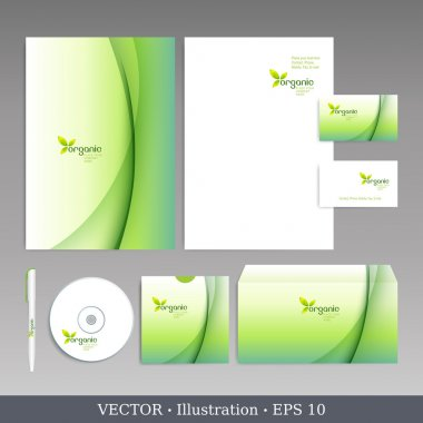 Corporate identity Organic style template.