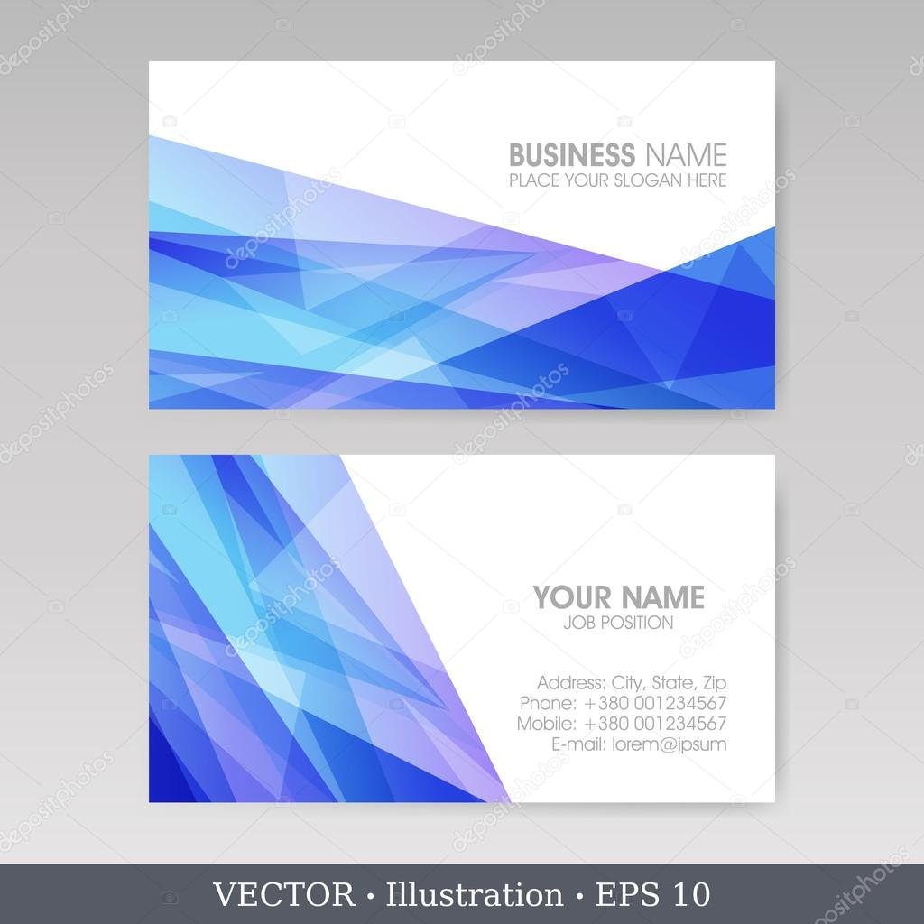 Business Card Set with abstract backgrounds EPS10 — Stock
