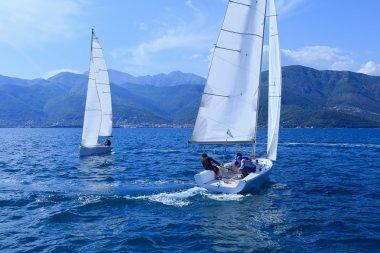 The sailing yachts