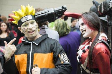 Harley Quinn and Naruto.