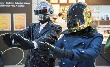 LONDON, UK - OCTOBER 26: Cosplayers dressed as the musical duo f