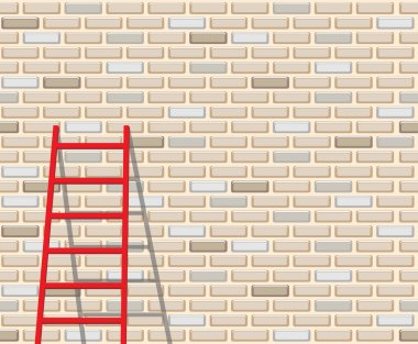 Seamless brick wall and ladder