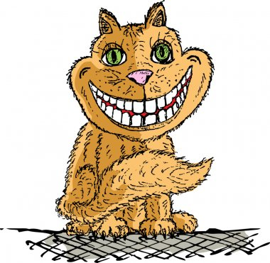 Orange Cheshire cat smilling