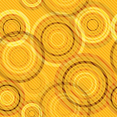 Abstract seamless retro background made of rings