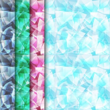 Diamond seamless pattern of various colors