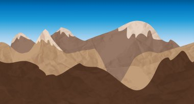 Seamless mountains banner