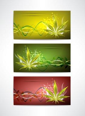 Marijuana card's set for your design