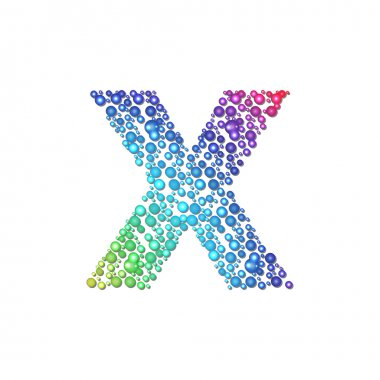 Circle rainbow letter X