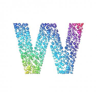 Circle rainbow letter W