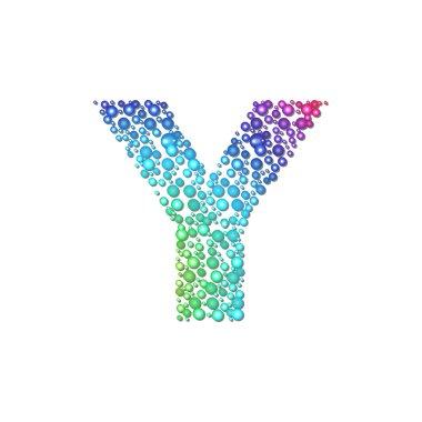 Circle rainbow letter Y