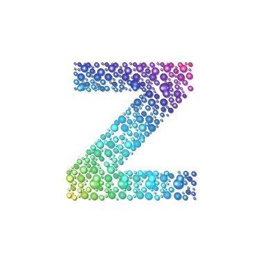 Circle rainbow letter Z