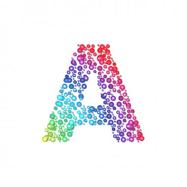 Circle rainbow letter A