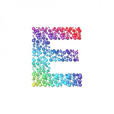 Circle rainbow letter E