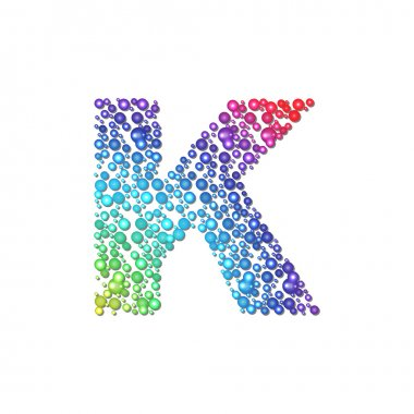 Circle rainbow letter K
