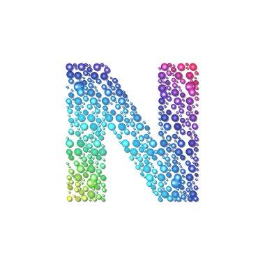 Circle rainbow letter N