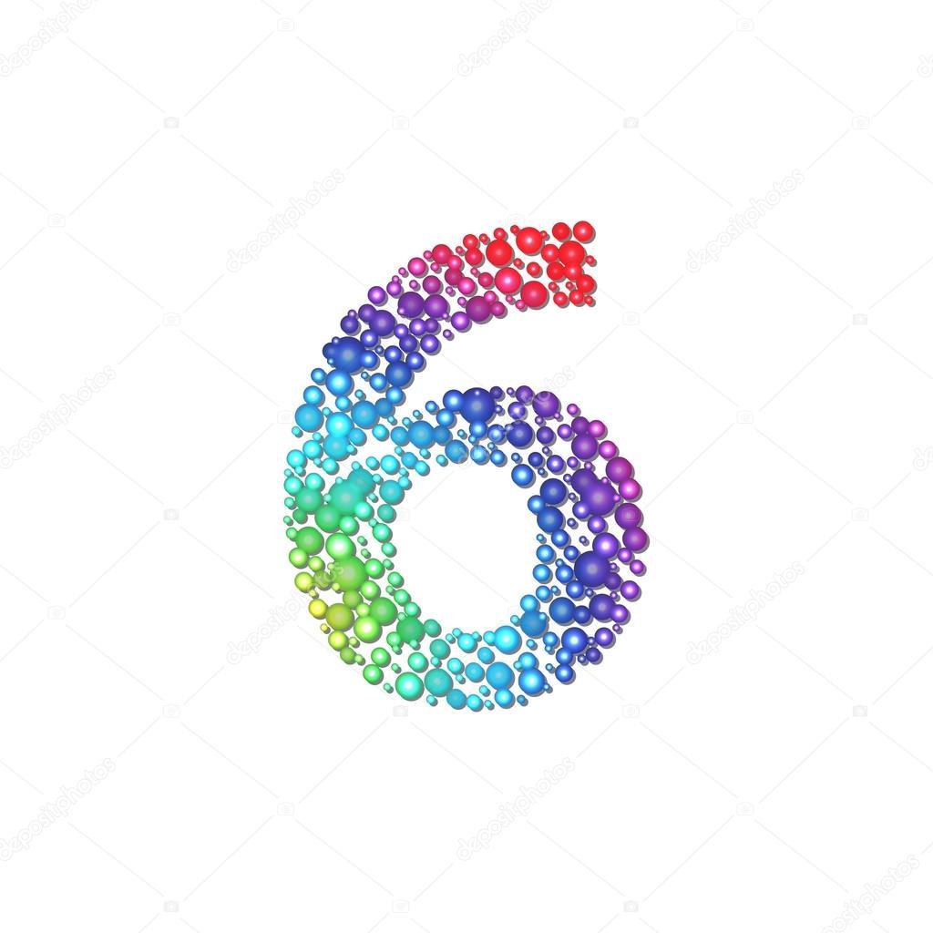 circle rainbow number 6 stock vector  u00a9 1001 holiday circle vector eps Vector EPS Coyote Files