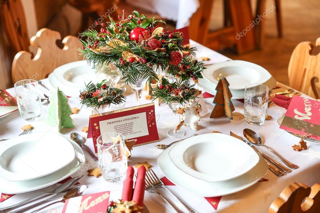 Traditionele kerst tafel u stockfoto adameq