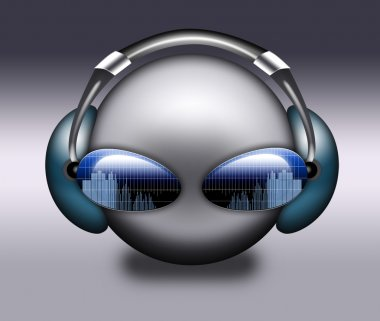 DJ grey symbol.