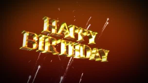 Alles Gute Zum Geburtstag Animation Stockvideo Wavebreakmedia