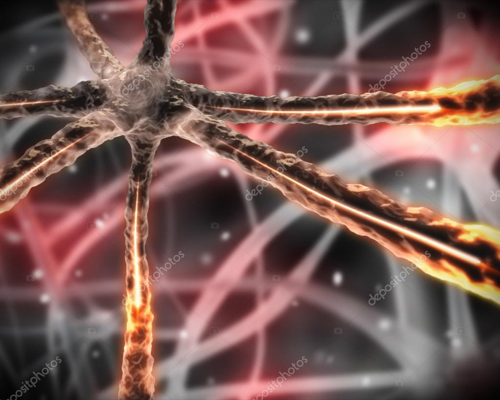 Orange mikroskopische Nervensystem — Stockfoto © Wavebreakmedia ...