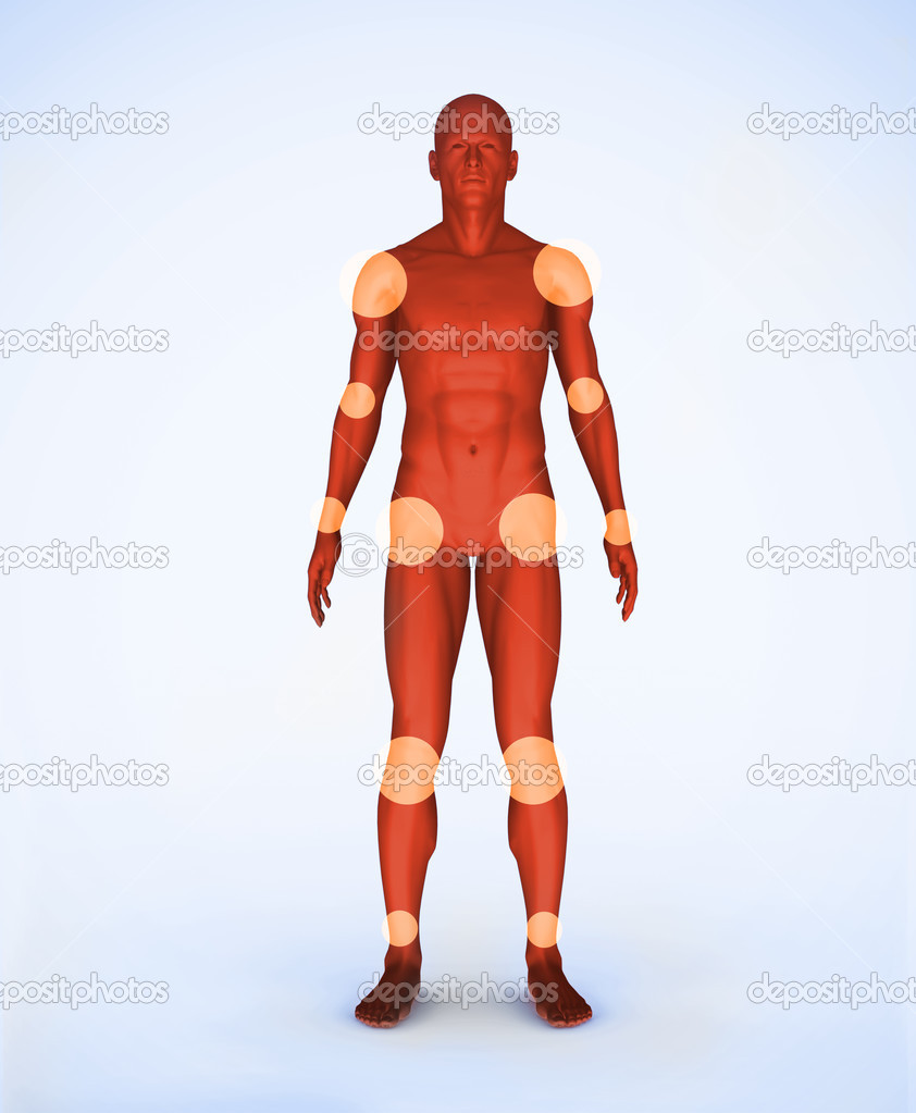 Gelenke des Skelettes rot digital — Stockfoto © Wavebreakmedia #24112017