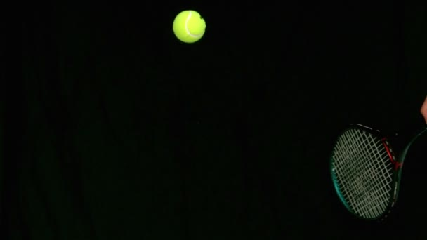 Tennis Ball Bouncing On A Racket Stock Video C Wavebreakmedia