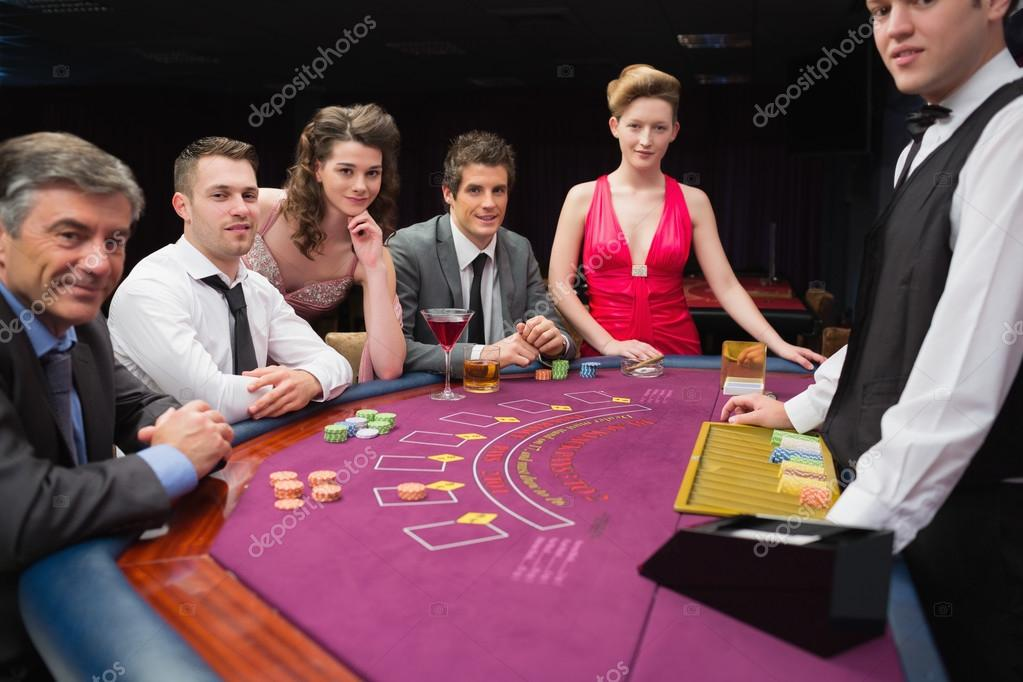 Folding felt poker table